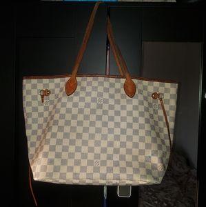 Louis Vuitton neverfull mm damier azur